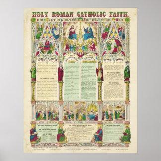 Fé católico romano santamente por Haasis por Lub Pôsteres