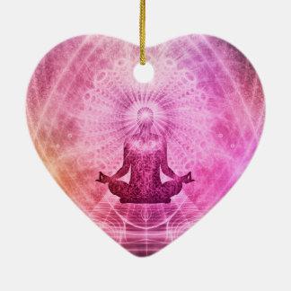 Fé da ioga da meditação ornamento de cerâmica