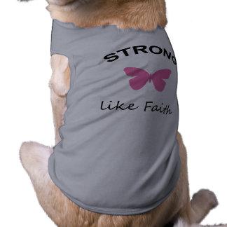 Fé e insensatez e camiseta de cão do cupcake