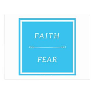 Fé sobre o cartão do medo