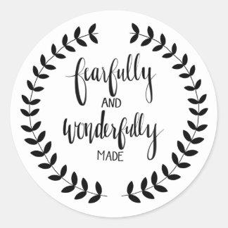 Fearfukky e etiqueta maravilhosamente feita