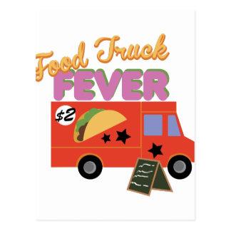 Febre do caminhão da comida cartão postal
