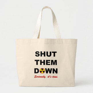 Fechado lhes abaixo do slogan das Anti-Armas nucle Sacola Tote Jumbo