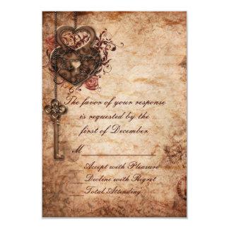 Fechamento elegante e chave que Wedding o cartão Convite 8.89 X 12.7cm