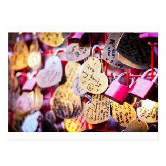 Fechamentos do amor cartão postal