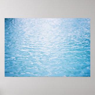 Feche acima da água rippled, Miami, FL 2 Posters