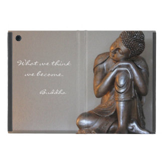 Feche acima de Buddha de prata calmo Capas iPad Mini
