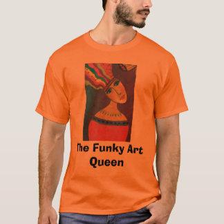 feche acima de um 2 criativos, rainha Funky da Camiseta
