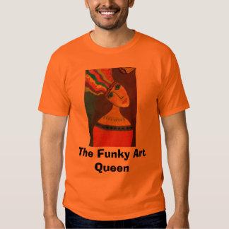 feche acima de um 2 criativos, rainha Funky da T-shirts