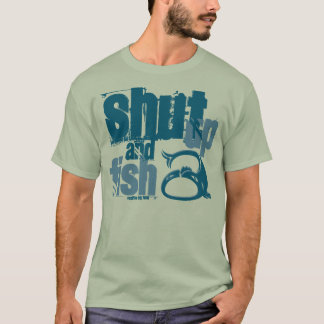Feche acima e pesque - camisas engraçadas da pesca