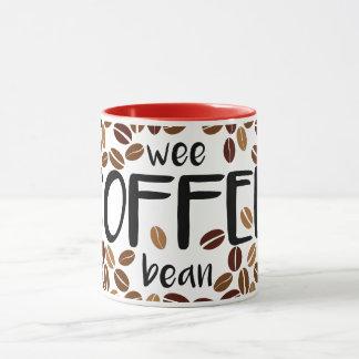 Feijão de café pequenino - caneca branca