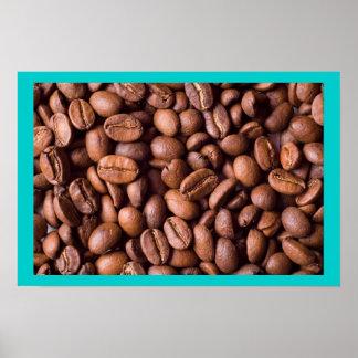 Feijões de café abundante! impressão
