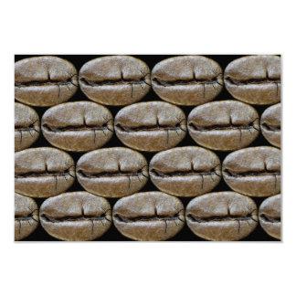 Feijões de café convite 8.89 x 12.7cm