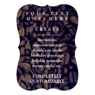 feijões de café convite 12.7 x 17.78cm