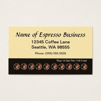 Feijões de café engraçados do cartão de perfurador