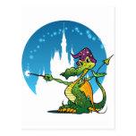 Feiticeiro do dragão dos desenhos animados cartao postal