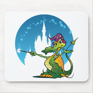 Feiticeiro do dragão dos desenhos animados mouse pad