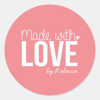 Feito com etiqueta do amor