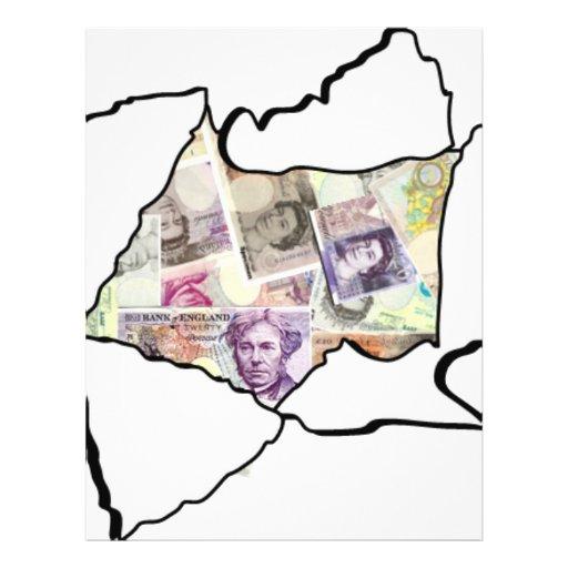 Feito do dinheiro modelo de panfleto