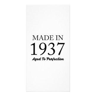 Feito em 1937 cartão