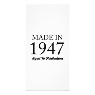 Feito em 1947 cartão