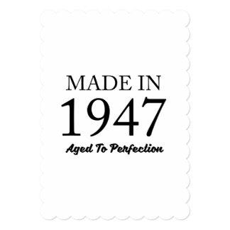 Feito em 1947 convite 12.7 x 17.78cm