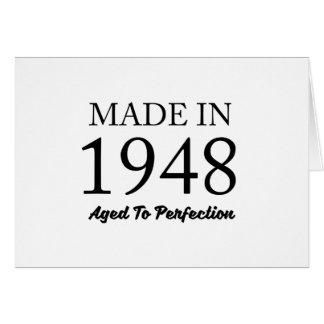 Feito em 1948 cartão