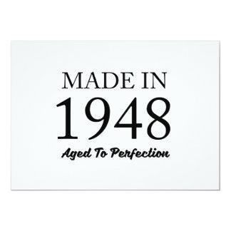 Feito em 1948 convite 12.7 x 17.78cm
