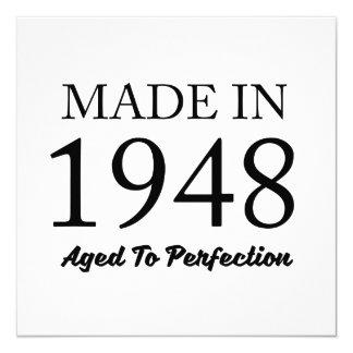Feito em 1948 convite quadrado 13.35 x 13.35cm
