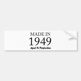 Feito em 1949 adesivo de para-choque