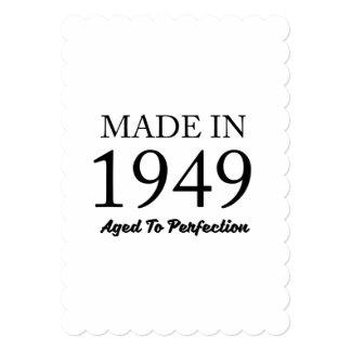 Feito em 1949 convite 12.7 x 17.78cm