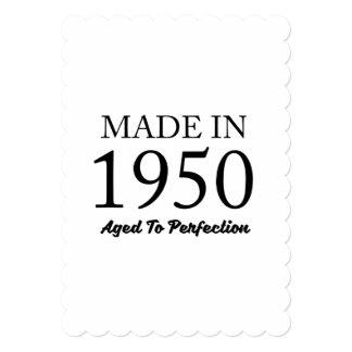 Feito em 1950 convite 12.7 x 17.78cm