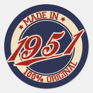 Feito em 1951 adesivo
