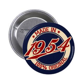 Feito em 1954 botons