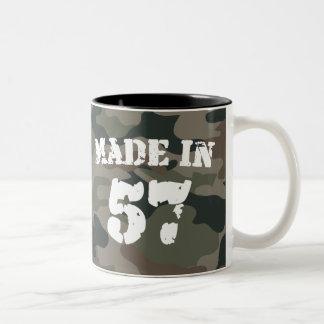 Feito em 1957 caneca de café em dois tons