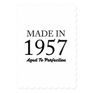Feito em 1957 convite 12.7 x 17.78cm