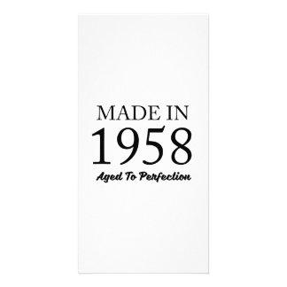 Feito em 1958 cartão