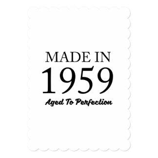 Feito em 1959 convite 12.7 x 17.78cm