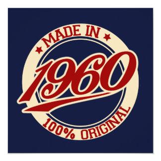 Feito em 1960 convite personalizados