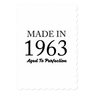 Feito em 1963 convite 12.7 x 17.78cm