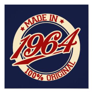 Feito em 1964 convites personalizados