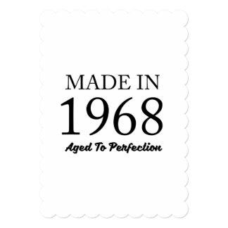 Feito em 1968 convite 12.7 x 17.78cm