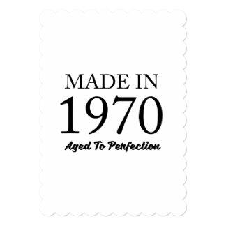 Feito em 1970 convite 12.7 x 17.78cm