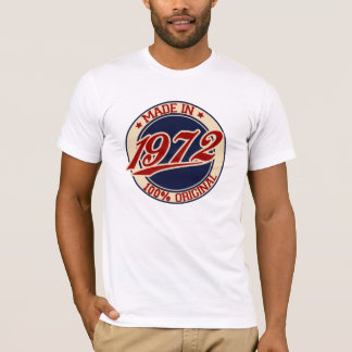 Feito em 1972 camiseta