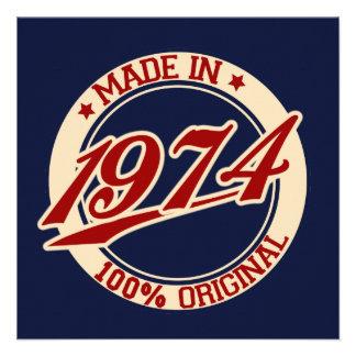 Feito em 1974 convite personalizados