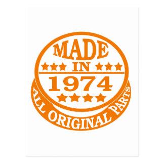 Feito em 1974 todas as peças do original cartão postal
