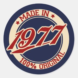 Feito em 1977 adesivo