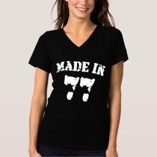 Feito em 1977 camiseta