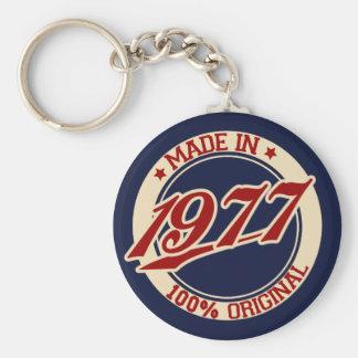 Feito em 1977 chaveiro