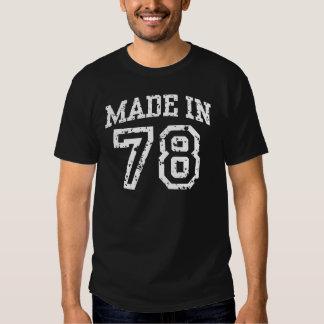 Feito em 1978 camiseta